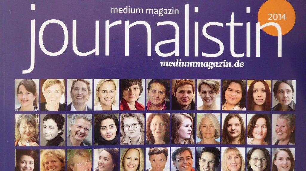 Medientrainerin Ute Emmerich auf der Titelseite des Mediummagazins
