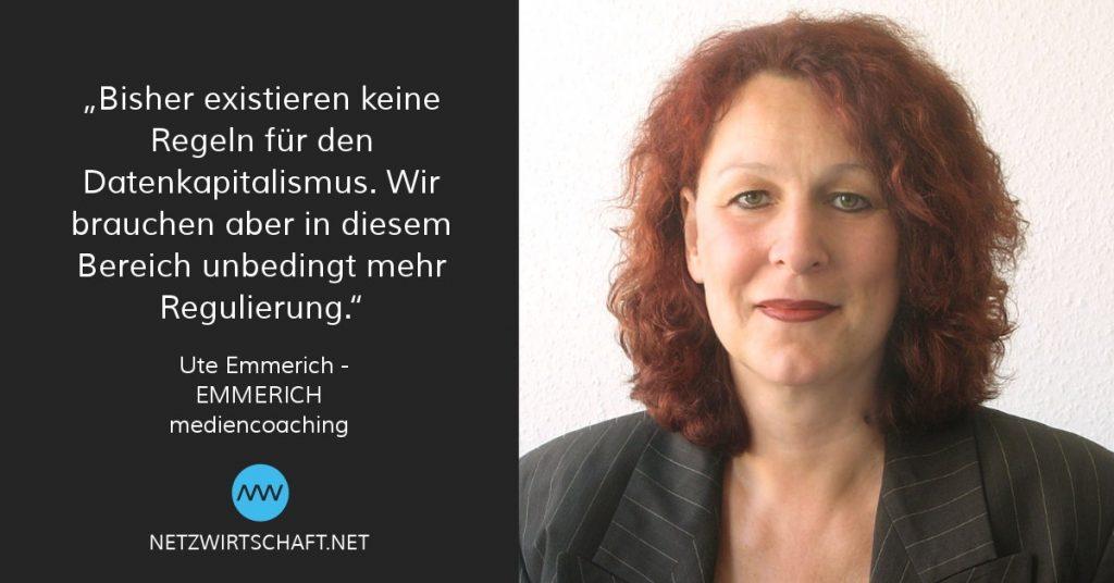 Ute Emmerich, Expertin für Digitalisierung und Online Beratung