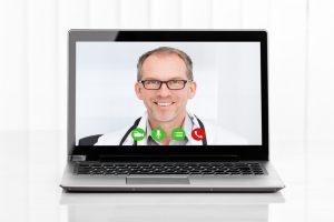 Arzt in der Videosprechstunde