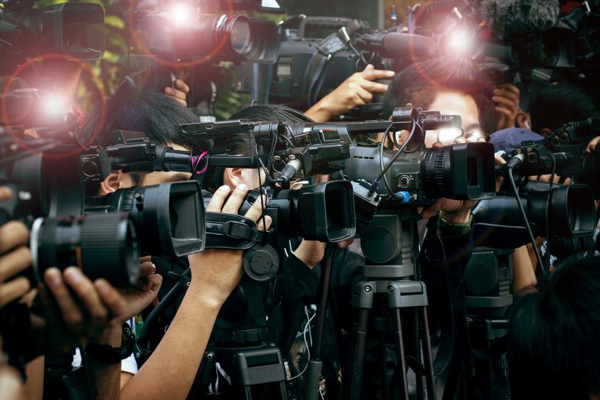 Kamerateams im Krisenfall