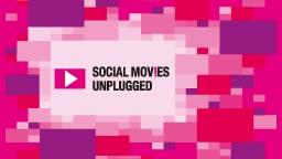 Social Movies Unplugged - Filmfestival der Technischen Hochschule Köln. Logo in pink