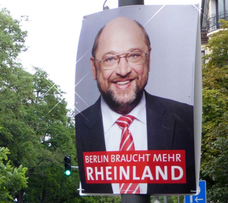 Blog Emmerich Mediencoaching: Martin Schultz Wahlplakat