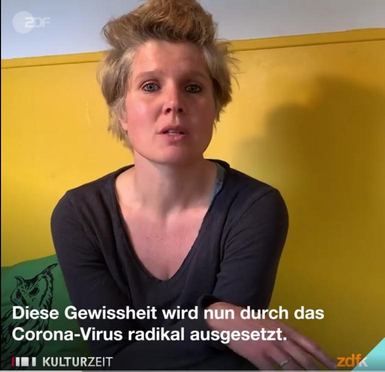Expertin in der Videokonferenz